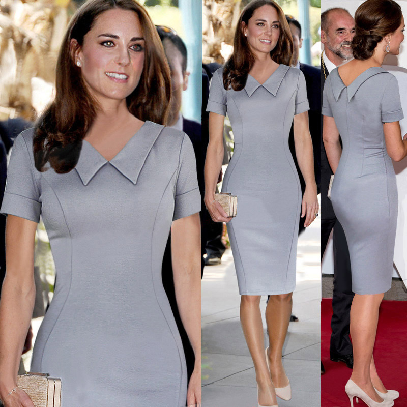 Catherine-Elizabeth-Middleton-font-b-Princess-b-font-Kate-Pencil-Dress-Women-Elegant-font-b-Celebrity
