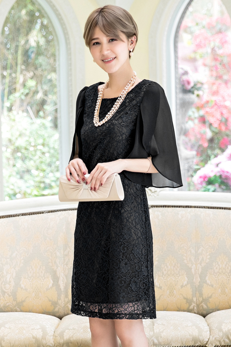 大人気の黒ワンピースで結婚式に出たい♡黒のお呼ばれドレスの